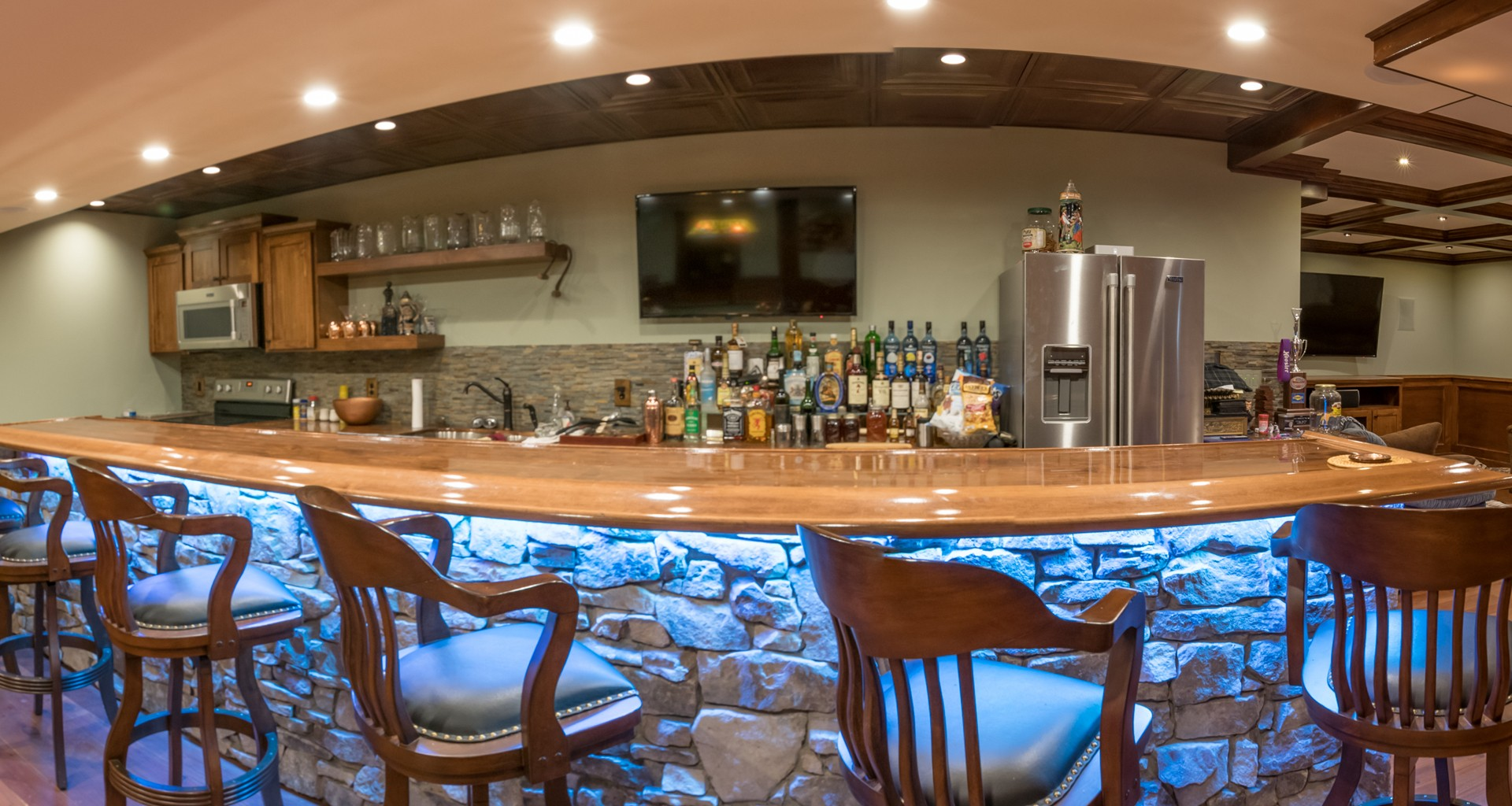 Bar with Wood and Stonework