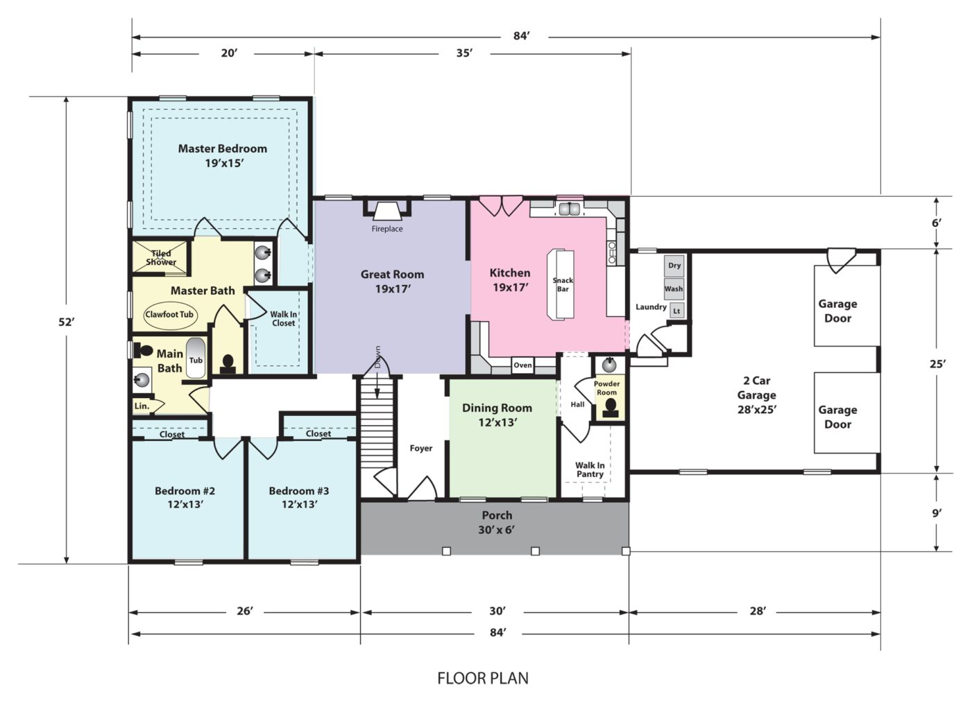 The Evelyn Home Floorplan